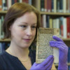 Medieval Caxton pages buried in a box, Reading University Finds