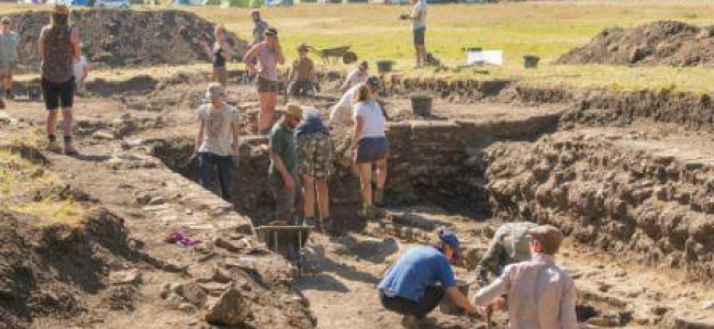Silchester Roman Bath Being Excavated By Reading University
