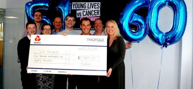 Local Reading Company Twofold Raises £5,160 For Charity