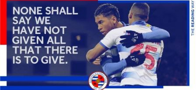 "ReadingFC Renews It Commitment To ""The Reading Way"""
