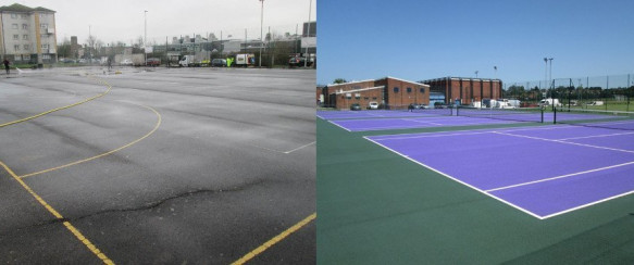 South Reading Tennis Courts Get a New Lease of Life