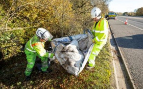 13 Tonnes Of Fly-Tipping Removed From A329M