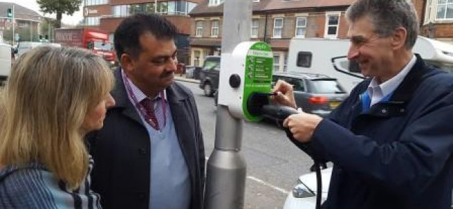 Reading Lamp Post Car Charging Points Go Live