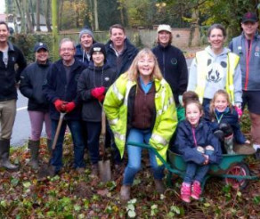 Generations Unite To Plant Spring Bulbs in Kiln Green