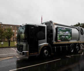 Electric Waste Vehicle Trial At Reading University