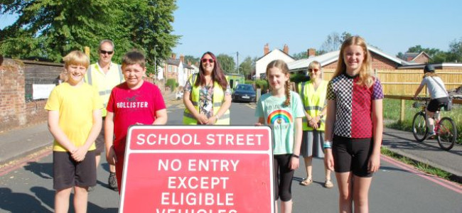 One Third More Children Walk To School As a Result of Reading's First Ever School Street
