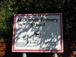 micklands school sign