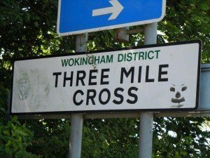 pic 12 - three mile cross sign