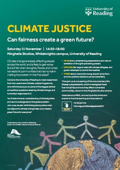 ESRC Climate Justice Event P