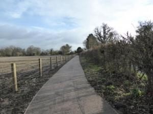 New Footway In Shinfield
