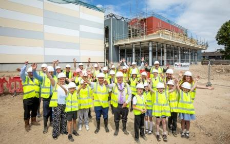 Bulmershe Leisure Centre Topping Out Ceromony