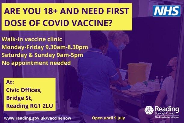 Reading Covid Vaccination